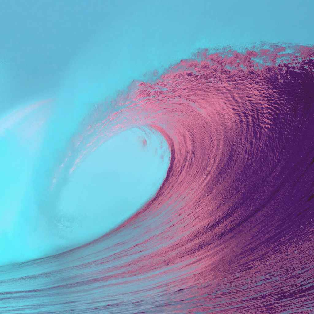 Coloured wave on the sea
